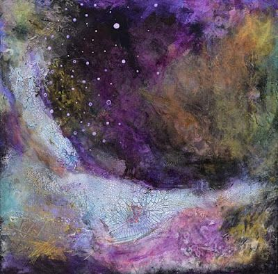"Abstract Art, Contemporary Mixed Media Painting,""Finding the Light"" by Santa Fe Contemporary Artist Sandra Duran Wilson"
