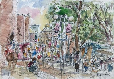 Sketches at sweet Marronnier Park
