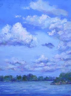 Cloud Study, New Contemporary Landscape Painting by Sheri Jones