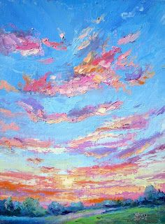 Sky Movement, New Contemporary Skyscape Painting by Sheri Jones