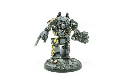 Showcase: Iron Warriors Contemptor Dreadnought by Silvernome