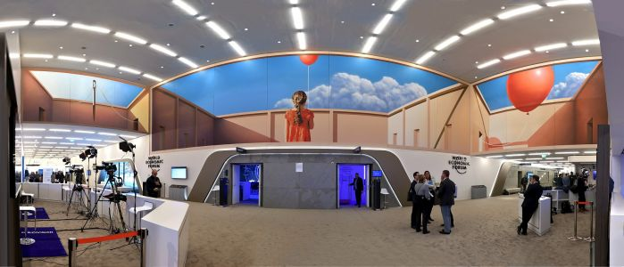Finding Hope: A Balloon Mural by Mehdi Ghadyanloo Brings Levity to the 2019 World Economic Forum Annual Meeting