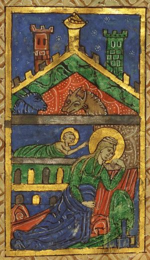 The Nativity in Illuminated Manuscripts