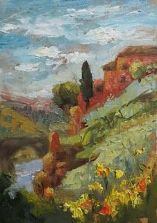 Toledo Painting by Contemporary Impressionist Niki Gulley