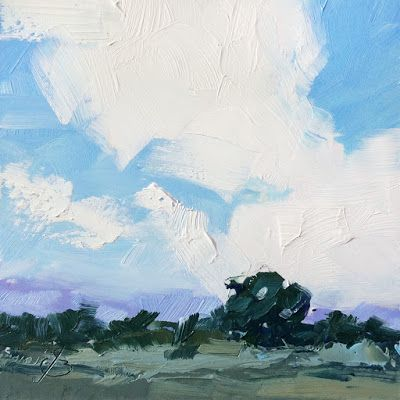 AFFORDABLE DRAMATIC SKYSCAPE by TOM BROWN