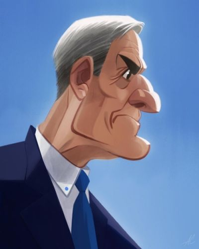 Eagle Eye RobertMueller caricature digital illustration