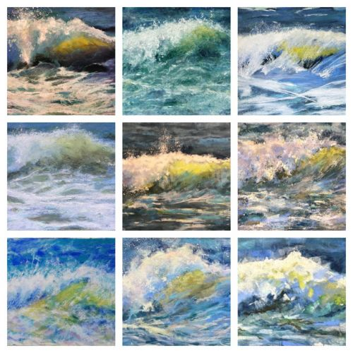 Impressive Wave Paintings in Pastel