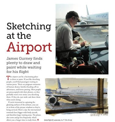 New Article: Sketching at the Airport