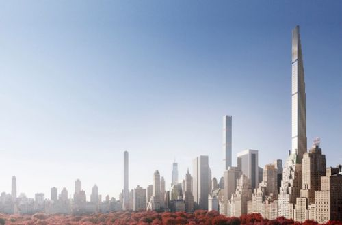 SHoP Architects' 111 West 57th Rises to Supertall Height as Terracotta Facade Pieces Go Missing