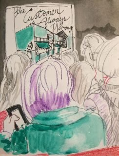 Mimi Pond and Sarah Glidden at Readers & Writers, NZ Festival 9 March 2018 - by Anne Taylor