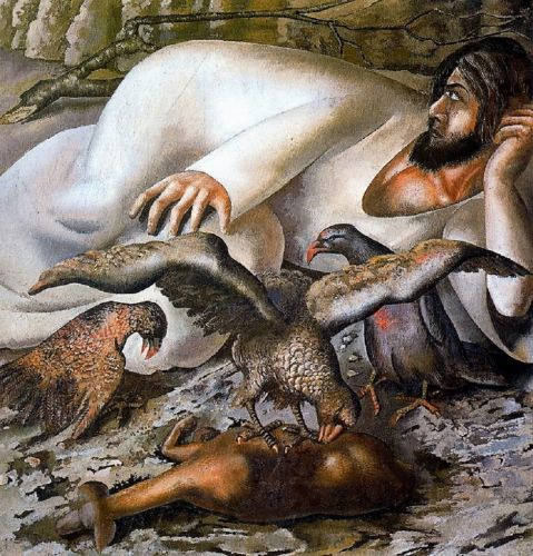 Lent - Stanley Spencer, Christ in the Wilderness The Eagles