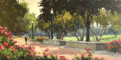 "Roses in Hermann Park ""Study"" - the design for my first huge commission piece"