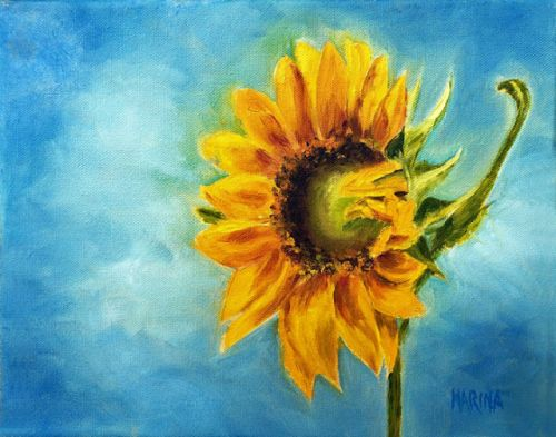 SUNFLOWER- Original Oil Painting by Marina Petro