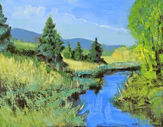 "Colorado Landscape Oil Painting ""Tranquility"" by Colorado Landscape Artist Susan Fowler"
