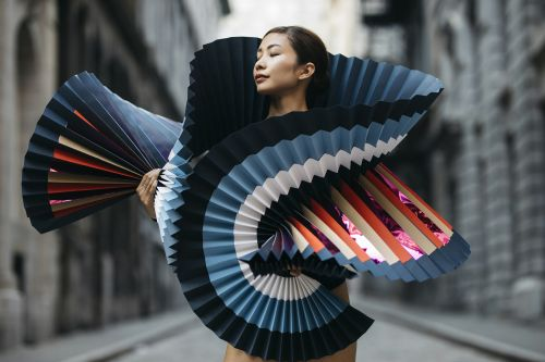 Life-Size Origami Becomes a Fashion Statement in Dramatic Paper Costumes Worn by Ballet Dancers