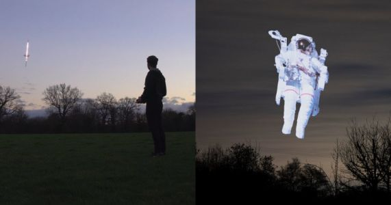 This Homemade Light Stick Drone is for Light Painting Images into the Sky