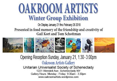 Oakroom Artists Winter Group Exhibit 2018