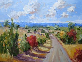 Pear Orchard Road Study, New Contemporary Landscape Painting by Sheri Jones