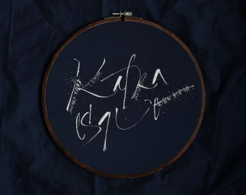 Embroidered Calligraphy by Olga Kovalenko Plays with Notions of Time and Gesture