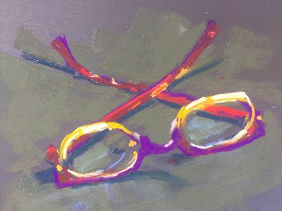 "Contemporary Still Life, ""Mom's Eyeglasses,"" by Amy Whitehouse"
