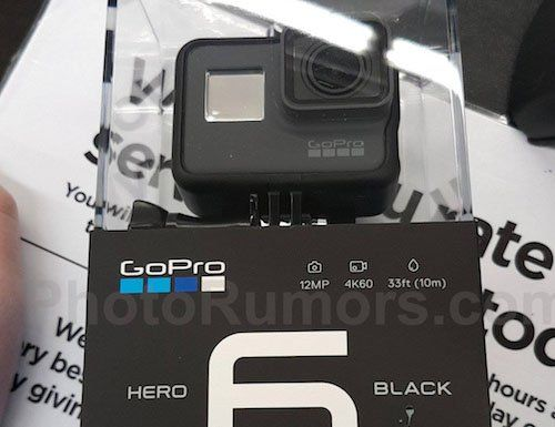 GoPro HERO6 Black Camera Shows Up in Leaked Photo, Box Says 4K/60FPS