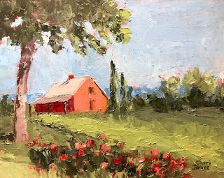 On A Rural Route, New Contemporary Landscape Painting by Sheri Jones