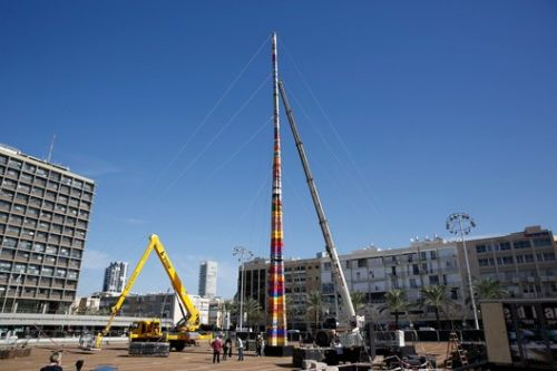 Tel Aviv's World Record Breaking LEGO Structure