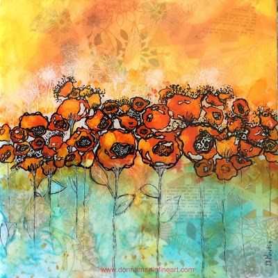 """Today I Choose to Be a Light"", Original Mixed Media Painting by Colorado Artist, Donna L. Martin"