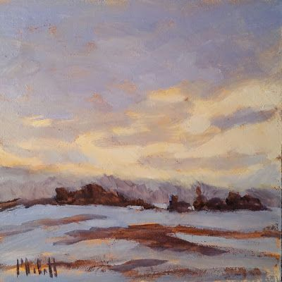 Winter Landscape Original Oil Painting and Prints Heidi Malott
