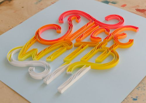 Swirling Three-Dimensional Script by Designer Alia Bright