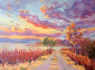 Dawn's Natural Design, New Contemporary Landscape Painting by Sheri Jones