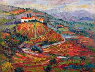 Painting Portugal's Wine and Port Country by Niki Gulley