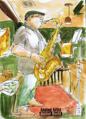 JohnnyMag Sax at the garlic
