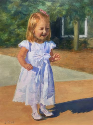 Lucy! Painting by Julie Beth Wileman