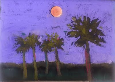 """Contemporary Landscape, """"Beach Night,"""" by Amy Whitehouse"""