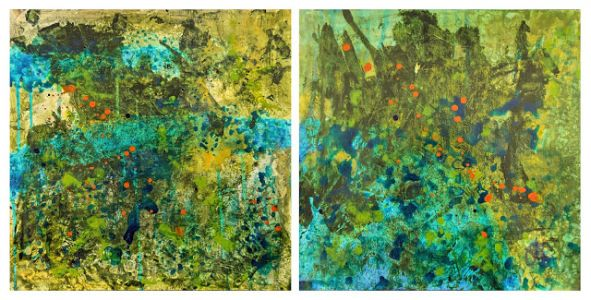 New Pond Diptych