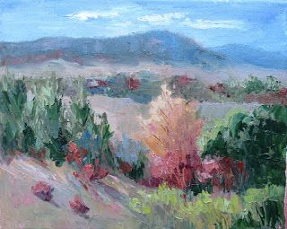 Overlooking Comanche Peak, New Contemporary Landscape Painting by Sheri Jones