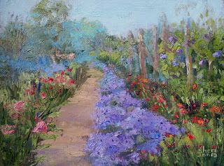 Aster and Company Garden, New Contemporary Painting by Sheri Jones