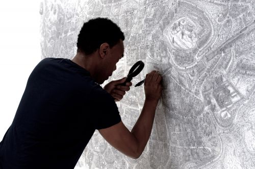 Large-Scale Drawings of the United Kingdom's 69 Cities by Carl Lavia