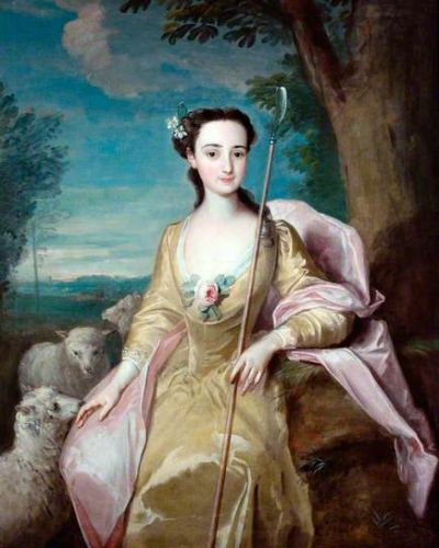 Longing for a Soft, Docile 17C-18C Gentlewoman Tending Sheep - Pastoral Allegories