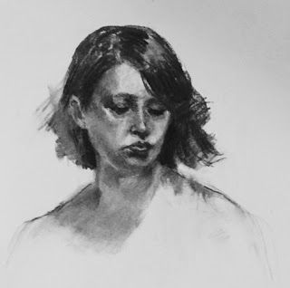 Bridgette's Soul - original charcoal portrait drawing