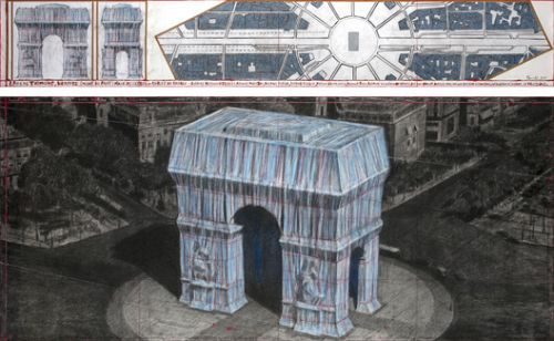 Christo will Wrap the Arc de Triomphe in Blue Fabric for his Next Work