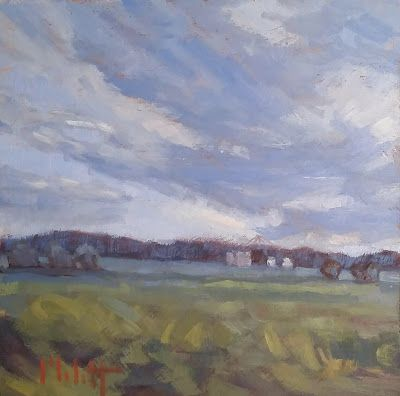 Cool Days in September Original Landscape Oil Paintings Heidi Malott