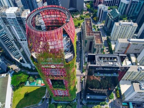 Greenery Engulfs WOHA's Oasia Hotel Downtown Singapore in New Photographs