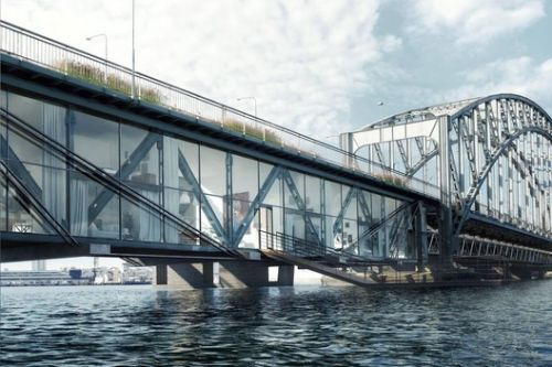 Urban Nouveau Aims to Save Stockholm's Lidingö Bridge by Combining New Housing