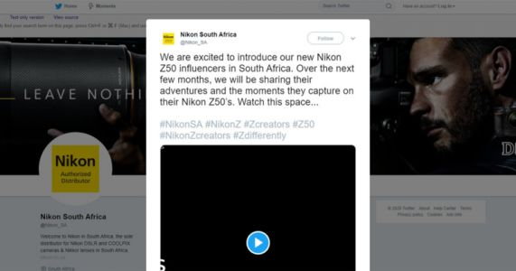 Nikon South Africa Slammed for Nearly All-White List of New Influencers