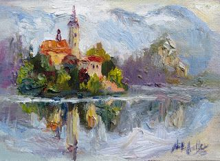Painting and Photographing Lake Bled with Niki Gulley and Scott Williams