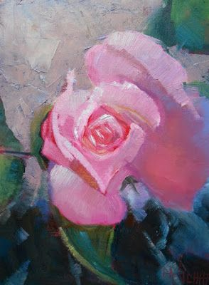 Rose Painting, Rose Still Life, Small Oil Painting, Daily Painting, 6x8