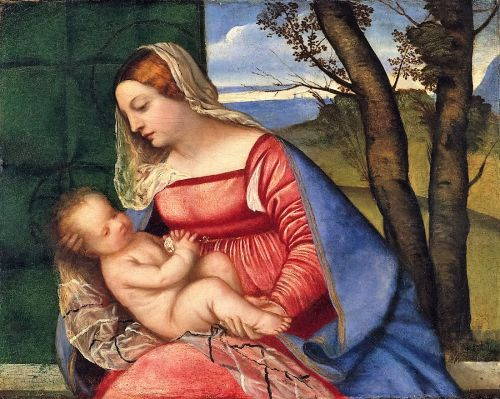Madonnas attributed to Titian Tiziano Vercelli 1488-1576