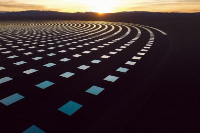 Photos of Giant Solar Power Mirrors in the Nevada Desert